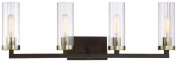 Minka Lavery Minka 3044-560 Transitional Four Light Bath from Ainsley Court Collection in Bronze/Darkfinish