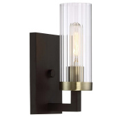 Minka Lavery Minka 3041-560 Transitional One Light Bath from Ainsley Court Collection in Bronze/Darkfinish
