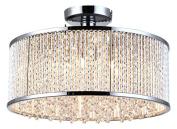 Bromi Design 6 B8512-6 Crystalline 6 Semi Flush Mount Ceiling Light, Chrome