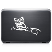 Cute Owl Tree Branch REMOVABLE Vinyl Decal Sticker For Laptop Tablet Helmet Windows Wall Decor Car Truck Motorcycle - Size (05 Inch / 13 Cm Wide) - Colour