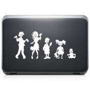 Zombies Family Funny REMOVABLE Vinyl Decal Sticker For Laptop Tablet Helmet Windows Wall Decor Car Truck Motorcycle - Size (05 Inch / 13 Cm Wide) - Colour