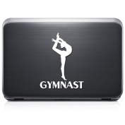 Gymnast Gymnastic REMOVABLE Vinyl Decal Sticker For Laptop Tablet Helmet Windows Wall Decor Car Truck Motorcycle - Size (07 Inch / 18 Cm Tall) - Colour