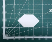 2.5cm Elongated Hexagon English Paper Piecing EPP Set of 100