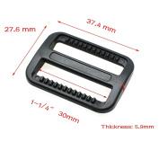 """15pcs 1-1/4""""(30mm)Plastic Tri-glide/Triglide Slides Buckle for Belt Backpack Black"""