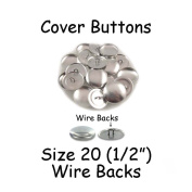 Cover Buttons - 1.3cm (SIZE 20) - WIRE BACKS - QTY 50