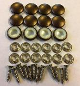 Set Of 12 Dura Snap Upholstery Buttons #30 Metallic Bronze Vinyl