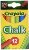 Crayola Chalk Assorted Colours 12 Sticks/Box