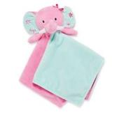Snuggle Buddy Blanket Plush Pink Elephant Toy by Okie Dokie