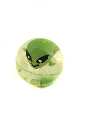 Light Up LED Flashing Alien Rubber Bouncy Ball