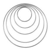 eBoot Set of 5 Pieces Assorted Metal Hoops Metal Rings for Dream Catcher, 5.1cm , 7.6cm , 10cm , 13cm , 15cm