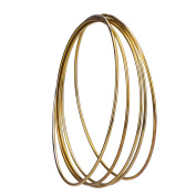 eBoot 5 Pack Gold Metal Rings Hoops Macrame Rings for Dream Catcher and Crafts