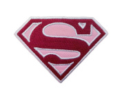 InspireMe Family Owned DC Comics Supergirl Logo Embroidered Sew/Iron-on Patch/Appliquees 6.4cm x 8.3cm