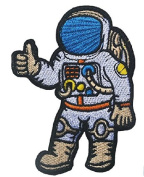 Astronaut cosmonaut spaceman retro embroidered applique iron-on patch