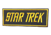 InspireMe Family Owned Star Trek Text Badge Embroidered Sew/Iron-on Patch/Applique 5.1cm x 12cm