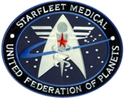 InspireMe Family Owned Star Trek Medical Insignia 10cm Logo Uniform Embroidered Sew/Iron-on Patch