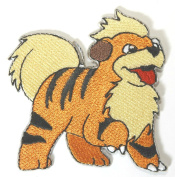 InspireMe Family Owned Pokemon Go Growlithe Embroidered Sew/Iron-on Patch 7.6cm