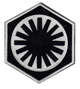 InspireMe Family Owned Star Wars Kylo Ren The First Order Embroidered Sew/Iron-on Patch/Appliquees 7.6cm