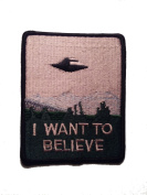 InspireMe Family Owned The X Files I Want To Believe Embroidered Iron/Sew On Patch 9.5cm x 7.6cm