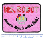 FSOCIETY Ms. Mr Robot Girl Shirt Patch 10cm x 7.6cm - Cool Patches - Iron On - Funny - Parody