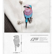 15kinds Bird Patches Stripes Clothing Embroidered Iron-On Applications Patches Applique Stickers For Clothes Badges