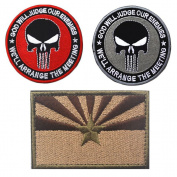 Embroidery ARIZONA State Flag and Punisher Tactical patches