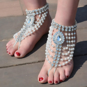 Fabal 1PC Female Simple Fashion Family Name Wind Anklet Coin Fringed Anklets