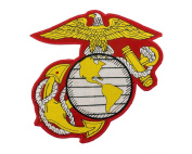 USMC EGA 25cm Iron On Centre Patch for Motorcycle Rider or Bikers Marine Corps Veteran Vest