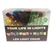 Celebration In Lights LED String Light Banner, Welcome Home