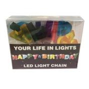 Celebration In Lights LED String Light Banner, Happy Birthday