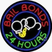24 Hours Bail Bonds LED Sign