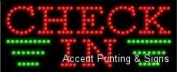 Cheque In LED Sign