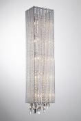 Bromi Design B84675HS Crystalline 5 Light Square Wall Scone, Chrome