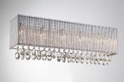 Bromi Design B84675S Crystalline Square 5 Light Wall Sconce, Chrome