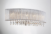 Bromi Design B84685R Crystalline Round 5 Light Wall Sconce, Chrome