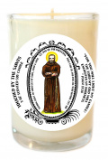 St Pio for Miracles for Body Mind & Soul 240ml Scented Soy Glass Prayer Candle