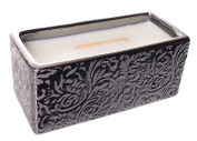 Woodwick Premium HearthWick Flame Scented Candle - Damask Woods Collection Rectangle Candle - Fireside