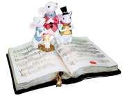 Tii Collections Light Up Mouse Carollers on a Music Book