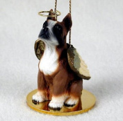 Simply Silver - BOXER (CROPPED FAWN) ANGEL DOG CHRISTMAS ORNAMENT HOLIDAY Figurine Statue