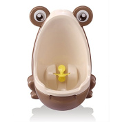 Qiyun Cute Frog Potty Training Urinal for Boys with Interesting Whirling Target Kids Removable Toilet Coffee