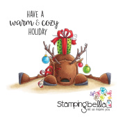 Stamping Bella Rubber Stamp - TT Rudolph With A Present On Top