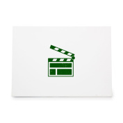 Clapperboard Action Director Film Movie Style 8443, Rubber Stamp Shape great for Scrapbooking, Crafts, Card Making, Ink Stamping Crafts