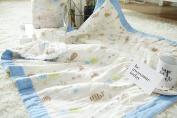 J-pinno Baby Nursery Muslin Cotton Bed Quilt Blanket Crib Coverlet 110cm X 110cm