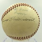 Rare 1940's Jimmy Bloodworth Phillies Signed Nl Game Used Baseball COA - PSA/DNA Certified - MLB Autographed Game Used Bases