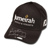 "Rory McIlroy Autographed Jumeirah Titleist Black Hat ""2 X Major Champ"" /100 - Upper Deck Certified - Autographed Golf Hats and Visors"