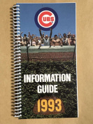 CHICAGO CUBS MLB BASEBALL MEDIA GUIDE 1993 Coiled EX/NM