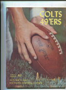 1963 Baltimore Colts vs San Francisco 15mERs NFL football programme MBX37