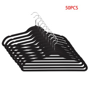 Cosway 50 PCS Space Saving Coat Clothes Hangers Non Slip Soft Touch Hangers Set
