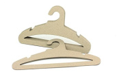 """Koobay 17"""" Natural Recyclable Paper Cardboard Adult Cloth Hanger,High Load Bearing 3.5mm Thickness Ok for Ski Suit"""