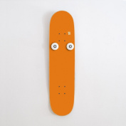 Idea kids bedroom skateboarder - skateboard decoration kids with original bearings and wheels - Gifts room for 9 to 15 years old skater - orange vertical coat rack and Free stickers