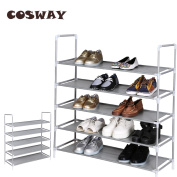Cosway 5 Tier Shoe Rack Storage Organiser Stand Portable Easy to Assemble 90.5 x 28 x 98.5cm [US STOCK]